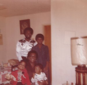 Dad, Mom, Grandma, Me, Little Brother